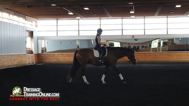 Courtney King-Dye-Dye works with a new horse and rider currently showing at Second Level concerned with the connection back to front. - Part 1 by Dressage Today Online