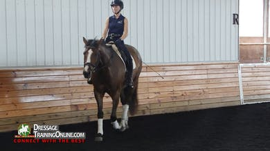 Courtney reiterates how important it is to have a dead quiet leg, and only use it when applying an aid. - Part 3 by Dressage Today Online
