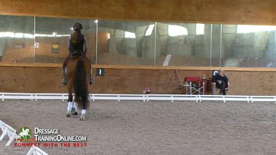 Gary gives suggestions for her leg and hand position during a walk break. Part 2 by Dressage Today Online