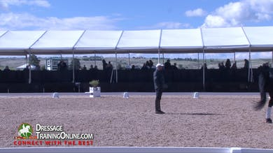 Steffen Peters teaches a session with a Friesian cross 15 year old mare  schooling PSG. - Part 1 by Dressage Today Online