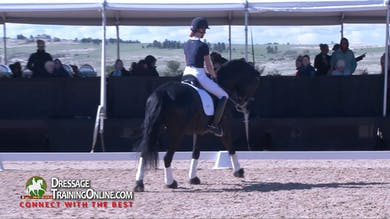 They reverse direction and continue with the walk pirouette. - Part 2 by Dressage Today Online