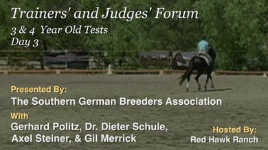 10/17/13 - Dr. Dieter Schule - Three and Four Year Old Tests by Dressage Today Online