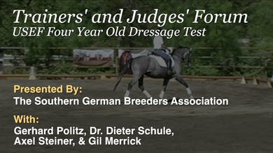 1/10/14 - Dr. Dieter Schule - USEF Four Year Old Test by Dressage Today Online