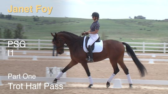 Instant Access to Janet Foy - PSG I1 - Part One - Trot Half Pass by Dressage Today Online, powered by Intelivideo