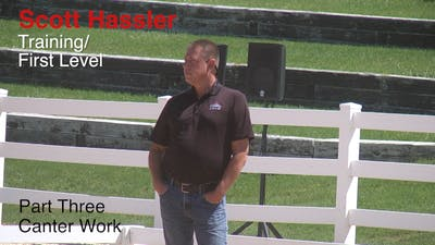 Scott Hassler - Training and First Level, Part 3, Canter Work by Dressage Today Online