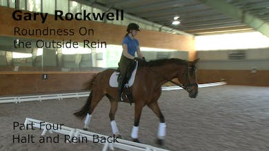 Gary Rockwell - Roundness on the Outside Rein - Part Four - Halt, Rein Back by Dressage Today Online