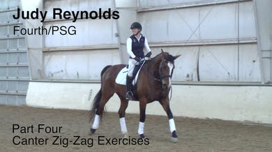 Judy Reynolds - Fourth/PSG - Part Four - Canter Zig-Zag Exercises by Dressage Today Online