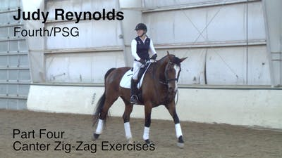Instant Access to Judy Reynolds - Fourth/PSG - Part Four - Canter Zig-Zag Exercises by Dressage Today Online, powered by Intelivideo