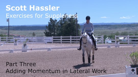Instant Access to Scott Hassler - Exercises for Suppleness - Part Three - Adding Momentum in Lateral Work by Dressage Today Online, powered by Intelivideo