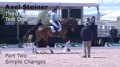 Axel Steiner - Third Level Test 1, Part 2 by Dressage Today Online