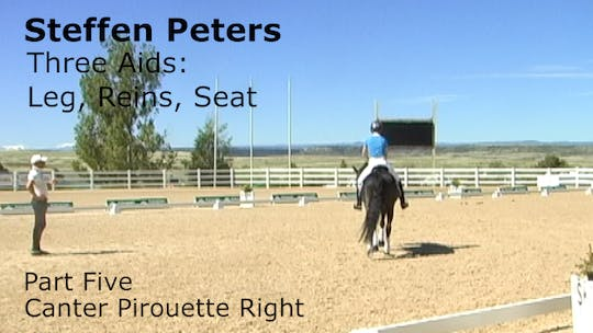 Instant Access to Steffen Peters - Three Aids - Part Five - Canter Pirouette Right by Dressage Today Online, powered by Intelivideo