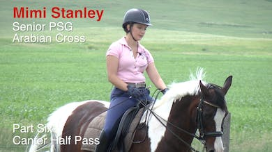 Mimi Stanley - Senior PSG Arabian Cross, Part 6 - Canter Half Pass by Dressage Today Online