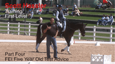 Scott Hassler - Training and First Level, Part 4, FEI 5-Year-Old Test by Dressage Today Online