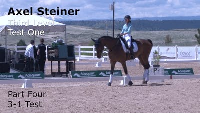 Axel Steiner - Third Level Test 1, Part 4 by Dressage Today Online