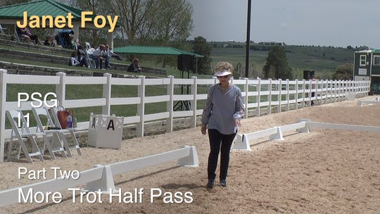 Instant Access to Janet Foy - PSG I1 - Part Two - More Trot Half Pass by Dressage Today Online, powered by Intelivideo