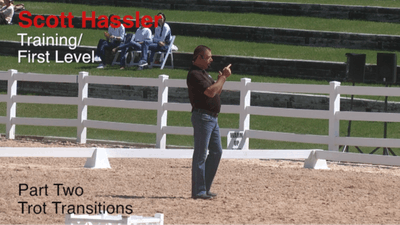 Instant Access to Scott Hassler - Training and First Level, Part 2, Trot Transitions by Dressage Today Online, powered by Intelivideo