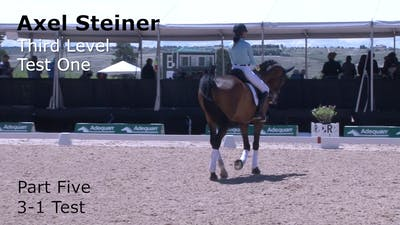 Axel Steiner - Third Level Test 1, Part 5 by Dressage Today Online