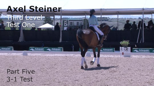 Instant Access to Axel Steiner - Third Level Test One - Part Five - 3-1 Test by Dressage Today Online, powered by Intelivideo