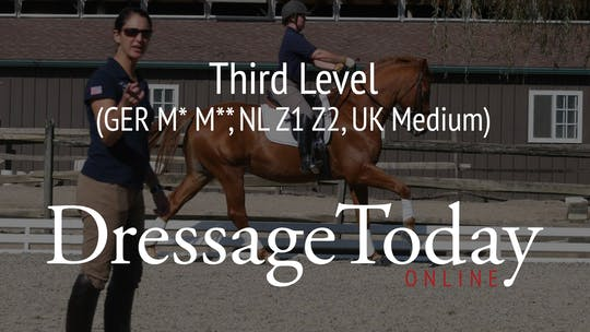 Third Level (GER M* M**, NL Z1 Z2, UK Medium) by Dressage Today Online