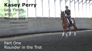 Kasey Perry - Leg Yields and Roundness - Part One - Rounder in the Trot by Dressage Today Online