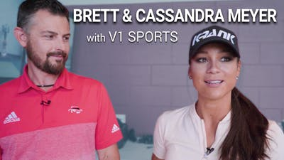 Brett & Cassandra Meyer using V1 by Golf Life