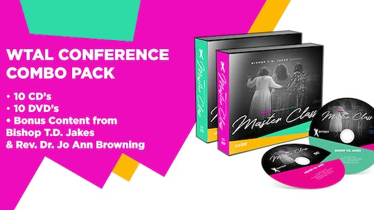 Instant Access to WTAL Conference Combo Pack 10 Messaages On Video by The Potter's House of Dallas, powered by Intelivideo
