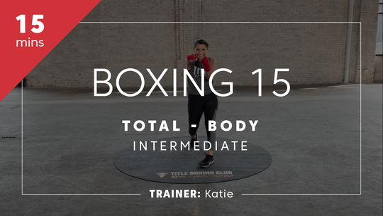 Get access to Boxing 15 with Katie | Total-Body Intermediate by TITLE Boxing Club