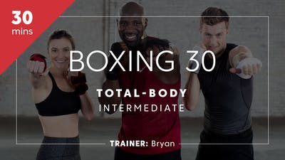 Instant Access to Boxing 30 with Bryan | Total-Body Intermediate by TITLE Boxing Club, powered by Intelivideo