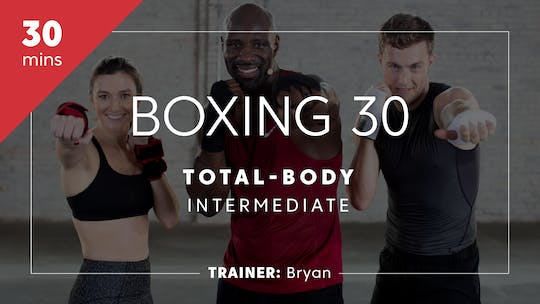 Get access to Boxing 30 with Bryan | Total-Body Intermediate by TITLE Boxing Club