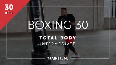 Instant Access to Boxing 30 with MJ | Total-Body Intermediate by TITLE Boxing Club, powered by Intelivideo