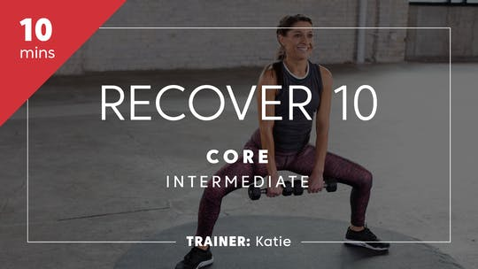 Get access to Recover 10 with Katie - Core by TITLE Boxing Club
