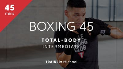 Instant Access to Boxing 45 with Michael | Total-Body Intermediate by TITLE Boxing Club, powered by Intelivideo