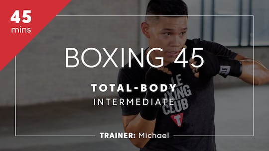 Get access to Boxing 45 with Michael | Total-Body Intermediate by TITLE Boxing Club