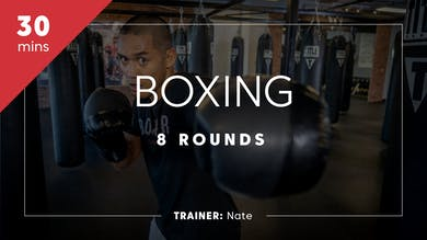 Boxing 8 Rounds with Nate by TITLE Boxing Club