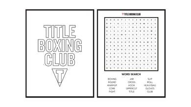 TITLE Boxing Club Coloring Pages + Word Search by TITLE Boxing Club