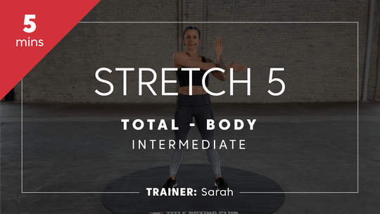 Get access to Stretch 5 with Sarah | Total-Body Intermediate by TITLE Boxing Club