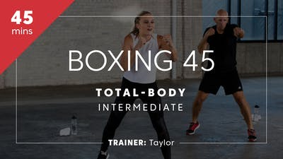 Instant Access to Boxing 45 with Taylor | Total-Body Intermediate by TITLE Boxing Club, powered by Intelivideo
