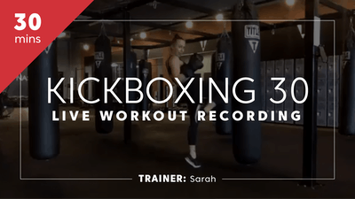 Kickboxing 30 Live Zoom Workout with Sarah by TITLE Boxing Club