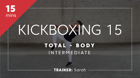 Get access to Kickboxing 15 with Sarah | Total-Body Intermediate by TITLE Boxing Club