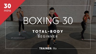 Instant Access to Boxing 30 with Ro | Total-Body Beginner by TITLE Boxing Club, powered by Intelivideo