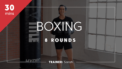 Boxing 8 Rounds with Sarah by TITLE Boxing Club