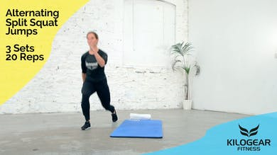 Alternating split squat jumps by Kilogear
