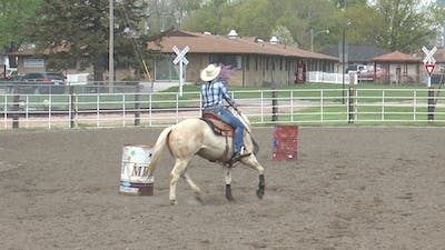 Amberley Snyder: All-Left Trot Circles for Better Barrel Racing Turns by Horse&Rider OnDemand