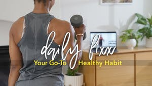 Little habits = big benefits! Set your alarm each day + create a daily habit with Daily Fixx by Jazzercise On Demand