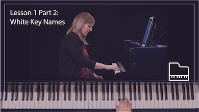 Lesson 1 Part 2: White Key Names by Musical Minds Online
