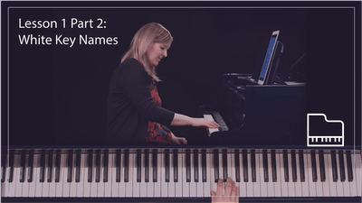 Instant Access to Lesson 1 Part 2: White Key Names by Musical Minds Online, powered by Intelivideo