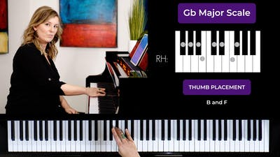 Gb Major 1 Octave Scale by Musical Minds Online