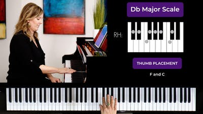 Db Major 1 Octave Scale by Musical Minds Online