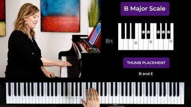 B major 1 Octave Scale by Musical Minds Online