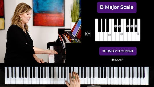 Get access to B major 1 Octave Scale by Musical Minds Online